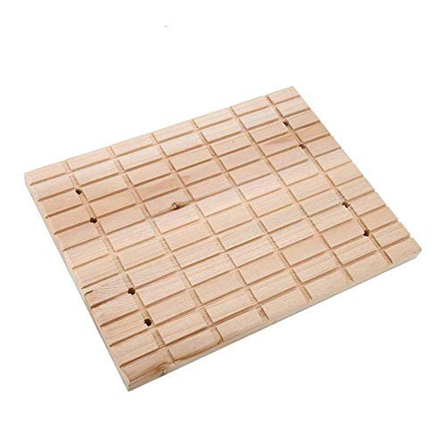 Rabbit Wooden Scratch Board Foot Pad for Small Animals Bunny Chinchilla Guinea Pig Cage Grinding Claws Deck