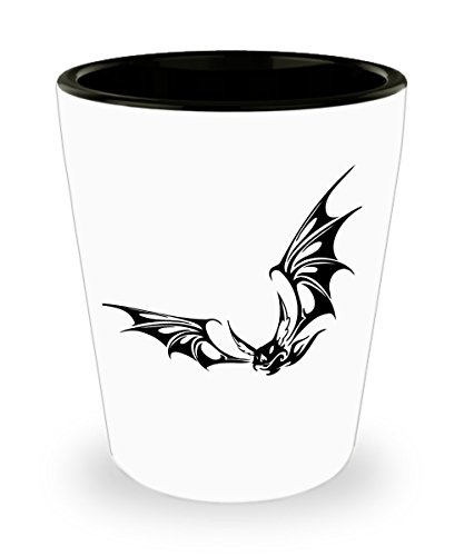 Creepy Evil Flying Bat Shot Glass For Animal Lovers