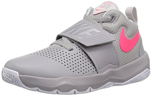Nike Boys' Team Hustle D 8 (GS) Basketball Shoe, Atmosphere Racer Pink-VAST Grey, 6Y Youth US Big Kid (Footwear Pink Youth Leather)