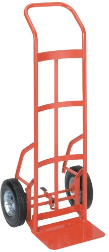 Wesco 210546 Touch-N-Tilt Steel Ergonomic Hand Truck, Semi-Pneumatic Wheels, 600-lb. Load Capacity, 20