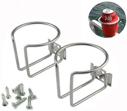 Stainless Steel Boat Ring Cup Drink Holder Fit For Marine Yacht Truck RV Silver