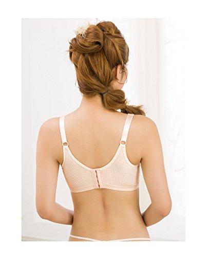 Front Bra Button Open row Nude Buckle Qirui Double Nursing Plaid w7qPTT