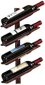 HUIJ Botellero Estante de Vino Botellero de Hierro Forjado de Pared Botelleros Vino Robusto,Natural,ecológico y Resistente a la corrosión. Adecuado para hogar/Bar,etc.(Negro,Bronce,Oro)