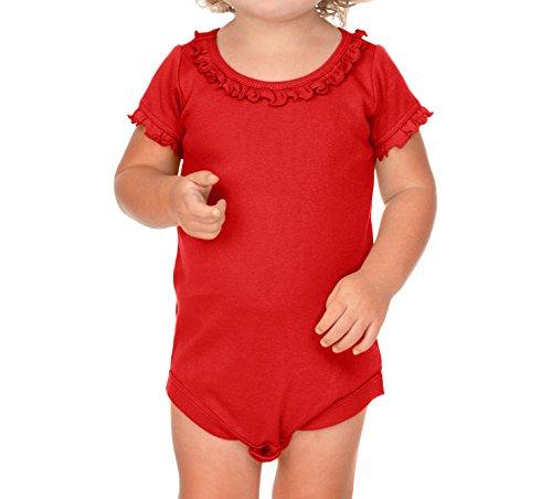 Kavio! Infants Sunflower Short Sleeve Onesie Red 18M