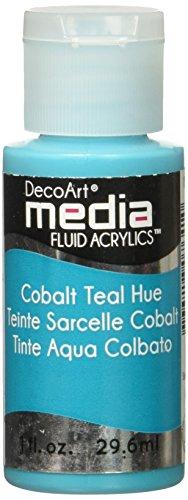 Deco Art Media Fluid Acrylic Paint, 1-Ounce, Cobalt Teal