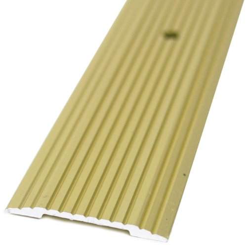 (M-D Building Products 79012 Wide Fluted 1-1/4-Inch by 36-Inch Seam Binder, Satin Brass )