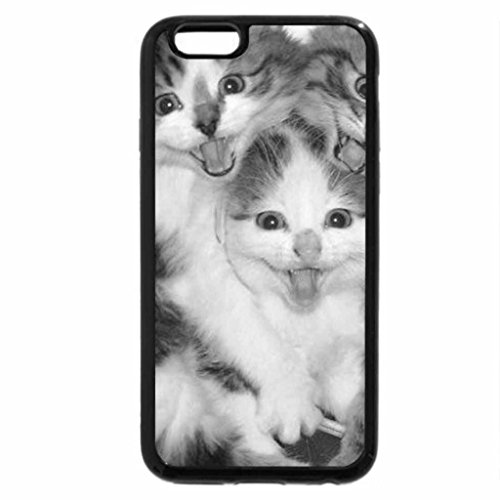 iPhone 6S Case, iPhone 6 Case (Black & White) - Laughing Kittens