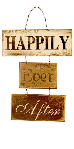 VIP International Happily Ever After Hanging Sign