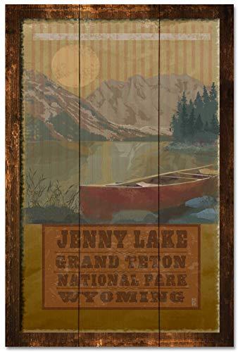 - MR-7481 GTC Jenny Lake Grand Teton National Park Rustic Wood Art Print by Mike Rangner (24