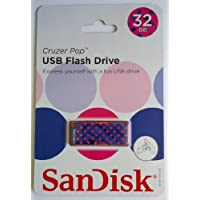 SanDisk Cruzer Pop 32 GB USB Flash Drive - Blue/Pink Dots (SDCZ53-032G)