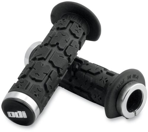 ODI ROGUE LOCK-ON GRIPS 120MM BLACK/SILVER ATV