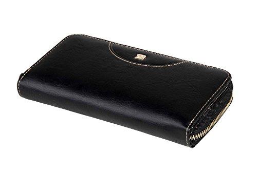 Cartera mujer RENATO BALESTRA negro modelo compacto con zip A4154