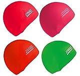 Zoggs Junior Swimming Pool Latex Caps Pack Of 12