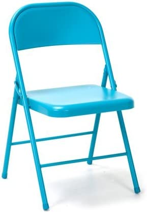 Space Saver 9 by NOVOGRATZ Steel Chairs, 2-Pack, Multiple Colors Turquoise