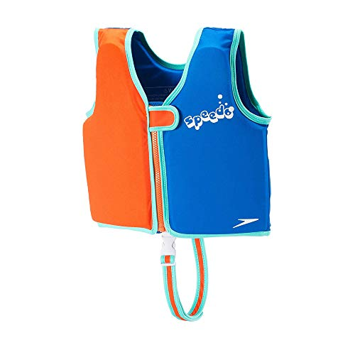 Speedo Kids' UPF 50+ Begin to Swim Classic Swim Vest-Manufacturer Discontinued, Electric Blue, Medium