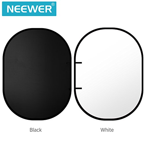Neewer Black/White Double-Side Pop-Out Muslin Backdrop -78.7 x 59 inches/200 x 150 centimeters Round Collapsible Background for Photography with a Carrying Case
