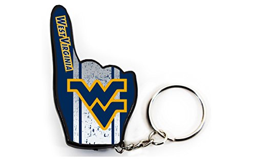 West Virginia Mountaineers #1 Fan Keychain