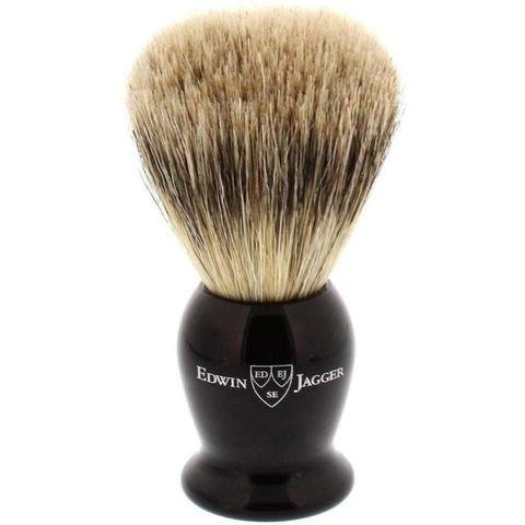 Edwin Jagger Best Badger Travel Brush with Case, Black