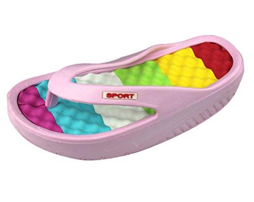 ANBOVER Women's Beach Beach Beach Wedges Platform Massage Thong Slippers Flip Flops Sandals B06XRK8TPQ Shoes 124c92