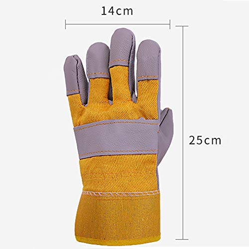 AINIYF Extreme Heat & Fire Resistant Gloves Leather With Stitching, Perfect For Fireplace, Stove, Oven, Grill, Welding, BBQ, Mig, Pot Holder, Animal Handling (Color : 10 pairs) by AINIYF (Image #1)