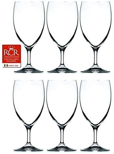 RCR Cristalleria Italiana Invino Crystal Glass Drinkware Set (Water Goblet [12 oz.])