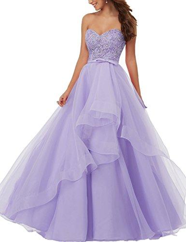 Longues Robes De Fête Robes De Bal Perlage Sweetheat Les Bp153 Des Femmes Besswedding Violet