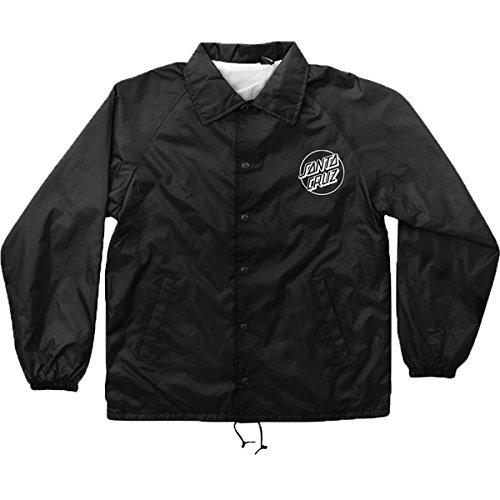 - Santa Cruz Men's Opus Dot Coach Windbreaker Jackets,Large,Black
