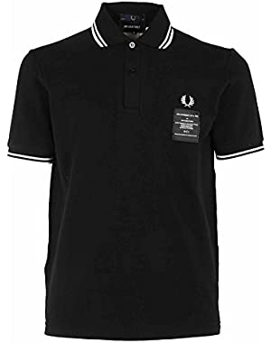 Men's SM140021804 Black Cotton Polo Shirt