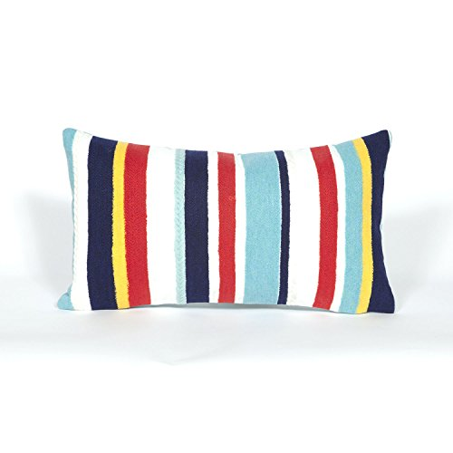 Mystic Throw - Liora Manne 7S01SA39144 Mystic III Nautical Stripe Multi Indoor/Outdoor Pillow