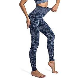 Loozykit High Waisted Leggings Stretch Women Yoga Pants Tummy Control Running Pants Seamless Leggings for Women