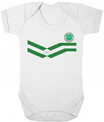 Saudi Arabia World Cup 2018 Babygrow Football Retro White