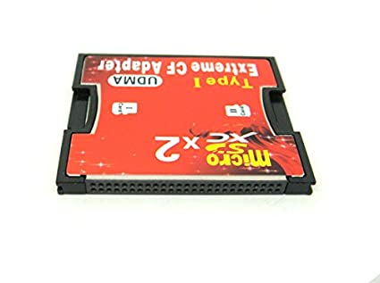 Dual Micro SD SDHC SDXC Card to UDMA CF Adapter For Canon Nikon Camera