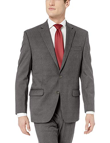 Chaps Men's All American Classic Fit Suit Separate Pant (Blazer and Pant), Grey Pinstripe, 38W x 34L from Chaps