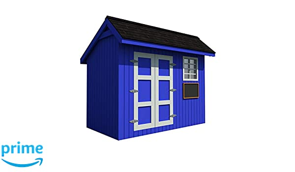 Kids Playhouse Plans DIY Backyard Storage Shed Workshop Mini ...