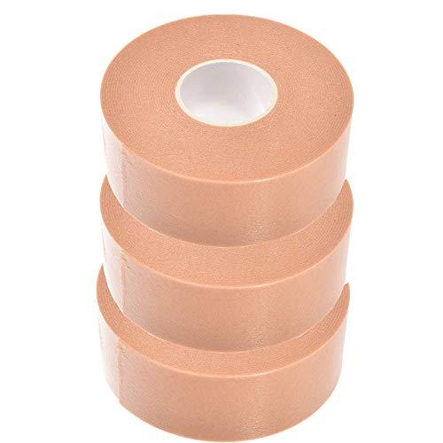 Mole Skin, 3 Rolls Moleskin for Feet Waterproof Feet Protection Pad Bubble Skin Bandages Tape Template Stencil Filled Toe Heel Old Tender Spots Shoes Wear Patch 1