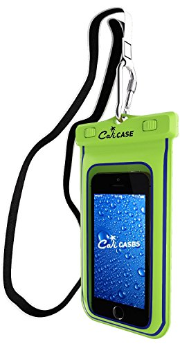 CaliCase Universal Waterproof Floating Case - Yellow Glow in Dark