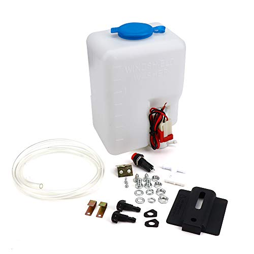 Universal Car Windshield Washer Pump Washer Fluid Reservoir Bottle Kit with Pump Jet Button SwitchUniversal designed to fit most washer - Fluid Bottle Washer
