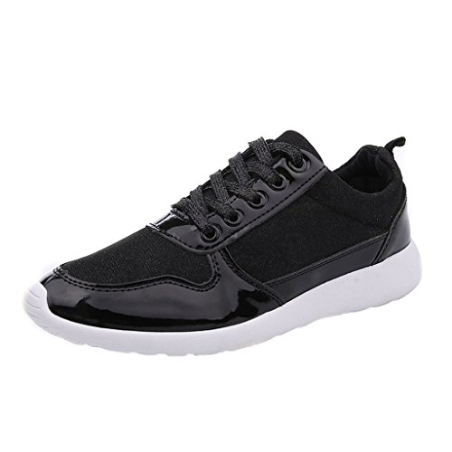 Dear Time Women Lace Up Creepers Shoes Black KbJ0GS