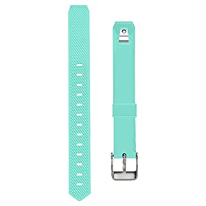 UMTELE For Fitbit Alta Bands, Soft Replacement Wristband with Metal Buckle Clasp for Fitbit Alta Smart Fitness Tracker, Turquoise