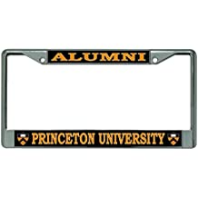 Princeton University Alumni Shield Logo Chrome License Plate Frame