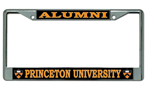 University Shield - Princeton University Alumni Shield Logo Chrome License Plate Frame