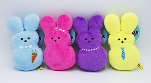 Peeps Plush Bunny Toys for Dogs, Embroidered, Soft, Stuffed, and Squeaky, Medium, 4 (Chick Dog Toy)
