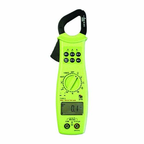 TPI 270 HVAC-R Autoranging Digital Clamp-On Meter Digital Multimeter, 40 Megaohms Resistance, 600V AC/DC Voltage, 400A AC, 400 Microamperes DC Current