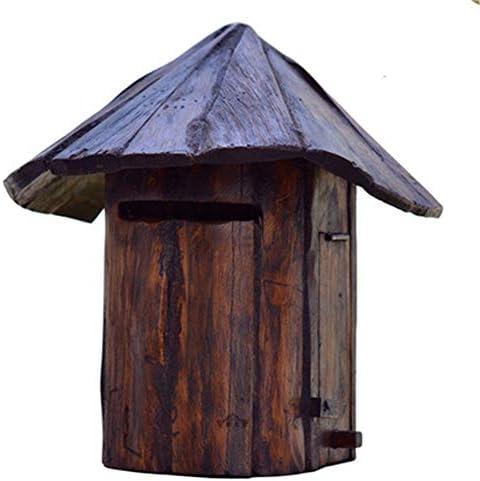メールボックス 防雨ヴィラメールボックス屋外クラシック木製メールボックスクリエイティブデコレーションモダン住宅垂直壁掛けメールボックス家庭およびオフィス用 家庭用またはビジネス用 (Color : Wood, Size : Free size)