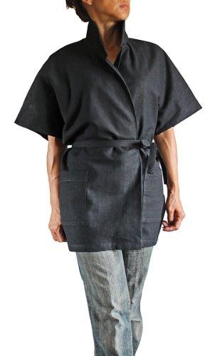 Sawan-Womens-Hemp-Standing-Collar-Japanese-Blouse-Jacket