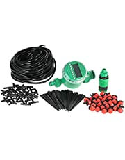 Decdeal 25m Micro Drip Irrigation System with Auto Timer Self Plant Watering Garden Hose