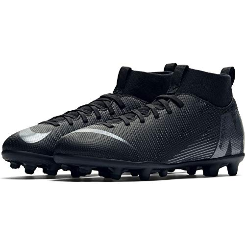 Nike Youth Soccer Superfly 6 Club Multi Ground Cleats (4 Big Kid M US) Black