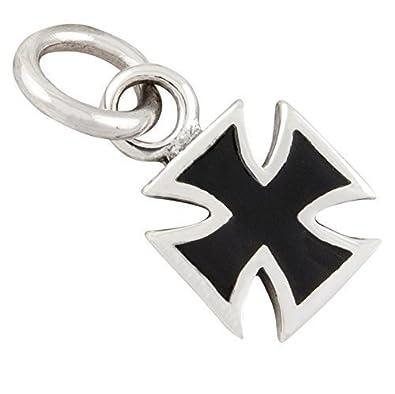 Eisernes Kreuz Anhänger 925 Sterling Silber Iron Cross schwarz silbern Nr 39