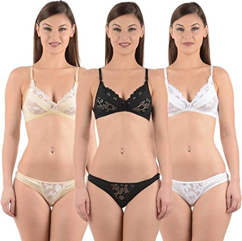 Lovinoform Cotton Non Padded Bra   Panty Set for Women s   Girl s (SIZE-40 acba3a1b5