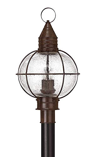 Hinkley 2201SZ Rustic Four Light Post Top/ Pier Mount from Cape Cod collection in Bronze/Darkfinish,